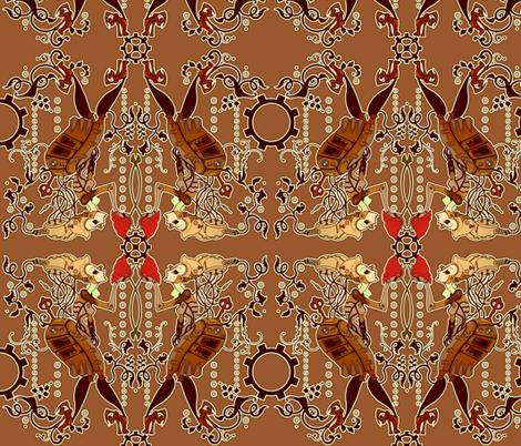 Steampunk Robot fabric by jadegordon on Spoonflower - custom fabric