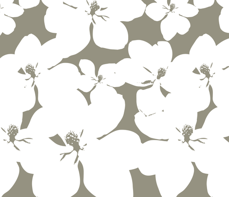 Magnolia Little Gem - Sage - 3 Yard Panel © Kristopher K 2010 fabric by kristopherk on Spoonflower - custom fabric