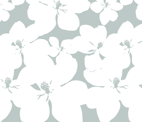 Magnolia Little Gem - Arctic - 3 Yard Panel fabric by kristopherk on Spoonflower - custom fabric
