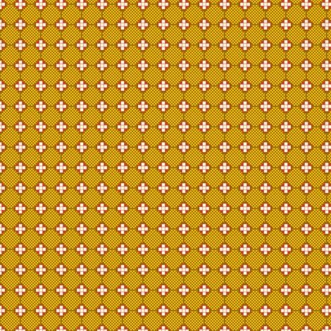 Crosses and Nets - Yellow fabric by siya on Spoonflower - custom fabric