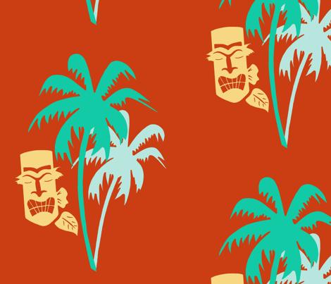 C'mon Tiki Paradise fabric by dreamycatz on Spoonflower - custom fabric