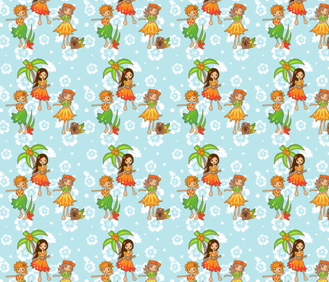 Cute Hula fabric by jillianmorris on Spoonflower - custom fabric