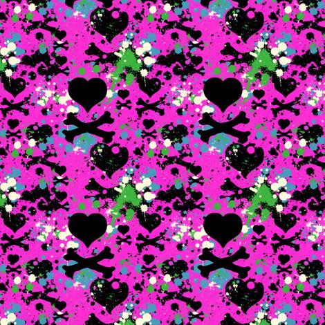 Love is a Battlefield - Hot Pink - © PinkSodaPop 4ComputerHeaven.com fabric by pinksodapop on Spoonflower - custom fabric