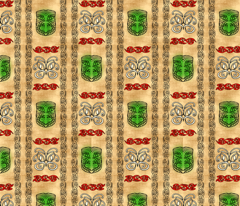 tileTiki fabric by ominko on Spoonflower - custom fabric