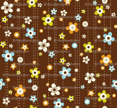 Flower Shower - Floral Brown