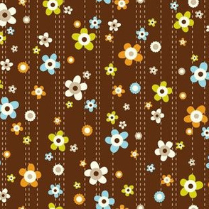 Flower Shower - Floral Brown