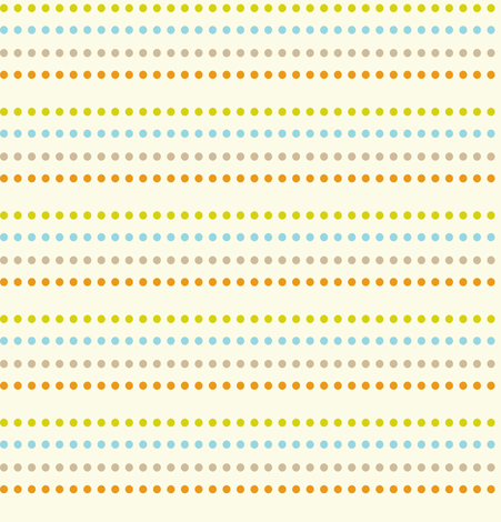 Dippy Dot - Polka Dot Stripe Cream fabric by heatherdutton on Spoonflower - custom fabric