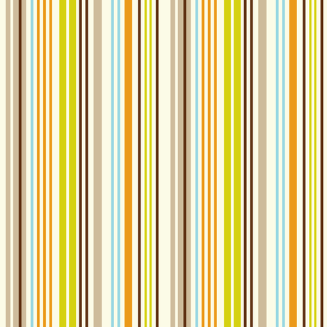 Give A Hoot Stripe - Cream fabric by heatherdutton on Spoonflower - custom fabric