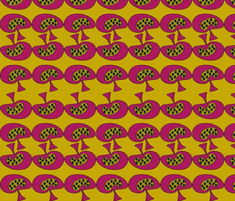 Mellow Mushroom fabric by sbd on Spoonflower - custom fabric