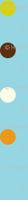 Dippy Dot - Polka Dot Stripe Aqua Blue