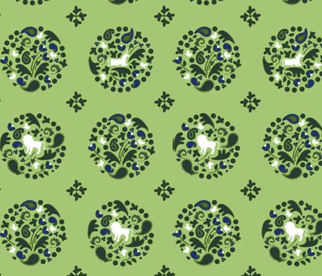 Lion & Unicorn Medallions fabric by acbeilke on Spoonflower - custom fabric