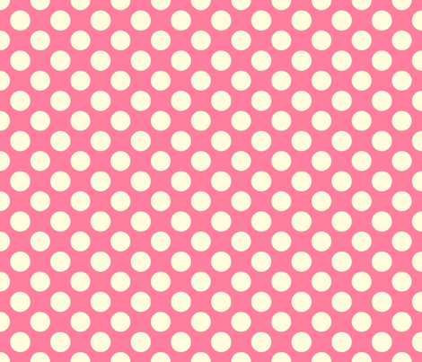 Pink Bubble Gum Dot fabric by bellamarie on Spoonflower - custom fabric
