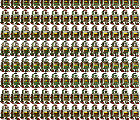 robot robot fabric by emmiepeanut on Spoonflower - custom fabric