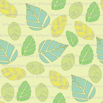 modern tiki leaves