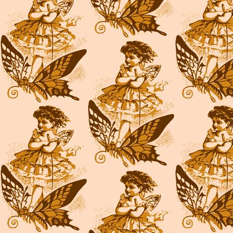 Butterfly Girl, version fabric by nalo_hopkinson on Spoonflower - custom fabric