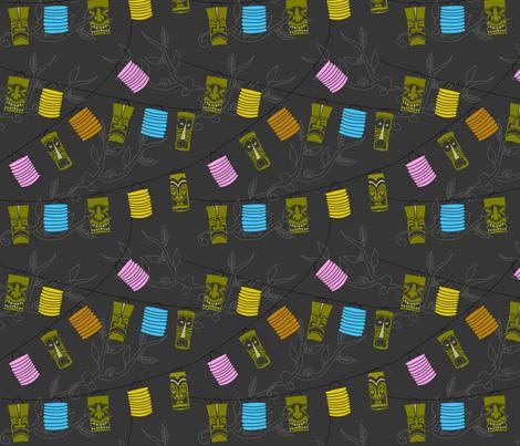 Tiki Lanterns fabric by jenimp on Spoonflower - custom fabric