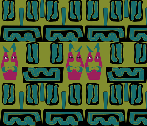 Tiki Time2 fabric by sbd on Spoonflower - custom fabric