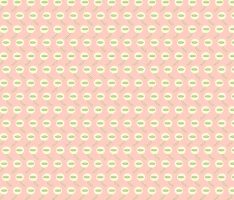 Dandelion Puff in pink fabric by beeskneesindustries on Spoonflower - custom fabric
