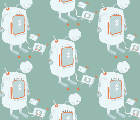 robot2 fabric by majali on Spoonflower - custom fabric