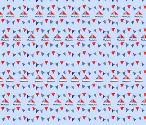 fanion bleu fabric by nadja_petremand on Spoonflower - custom fabric
