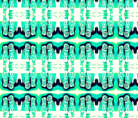 tiki tiki  fabric by emmiepeanut on Spoonflower - custom fabric