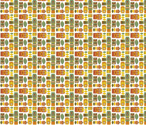 Tiki Party - Small fabric by fuzzyskyfabric on Spoonflower - custom fabric