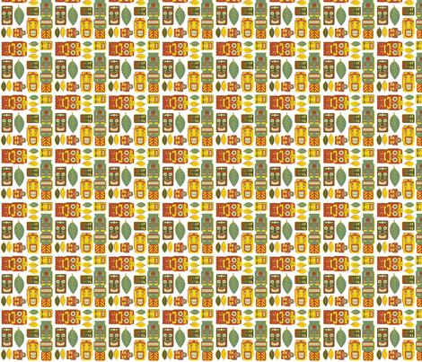 Tiki Party - Small fabric by fuzzyskyfabric on Spoonflower - custom fabric