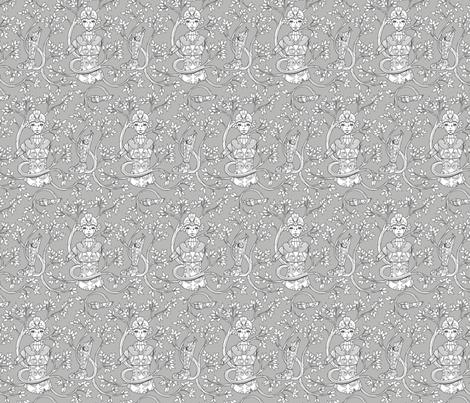 Forgotten Robot fabric by jillianmorris on Spoonflower - custom fabric