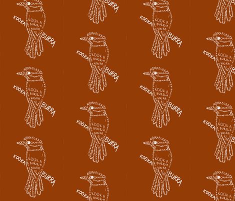 Kookaburra Calligram fabric by blue_jacaranda on Spoonflower - custom fabric