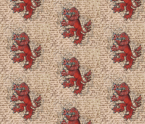 Coeur de Lion fabric by poetryqn on Spoonflower - custom fabric