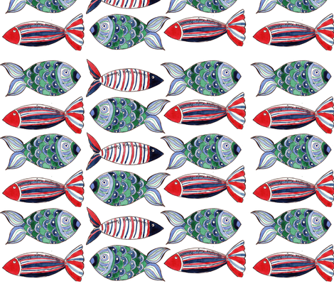 poissons ribambelle M fabric by nadja_petremand on Spoonflower - custom fabric