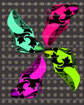 Shoe Fashion Frenzy - Bright Lights! - © PinkSodaPop 4ComputerHeaven.com
