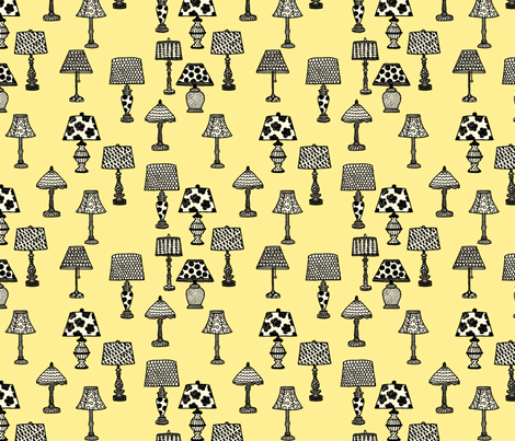 Antique Shop - Lamps fabric by paulahoffmandesign on Spoonflower - custom fabric
