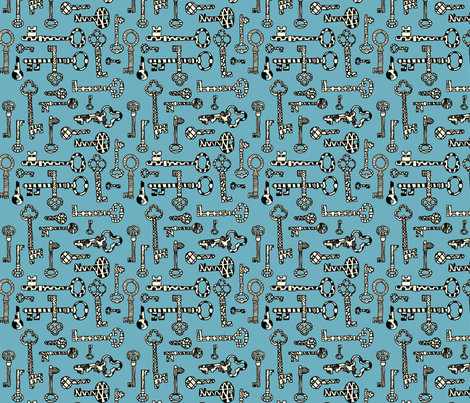 Antique Shop - Skeleton Keys fabric by paulahoffmandesign on Spoonflower - custom fabric