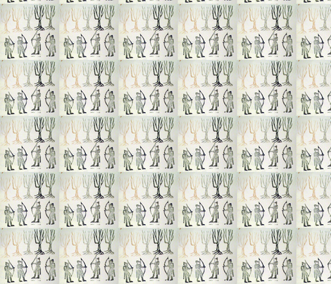 my archery stamp-ed fabric by pigglewiggins on Spoonflower - custom fabric