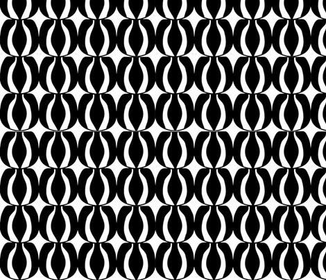 Black and  White fabric by sbd on Spoonflower - custom fabric
