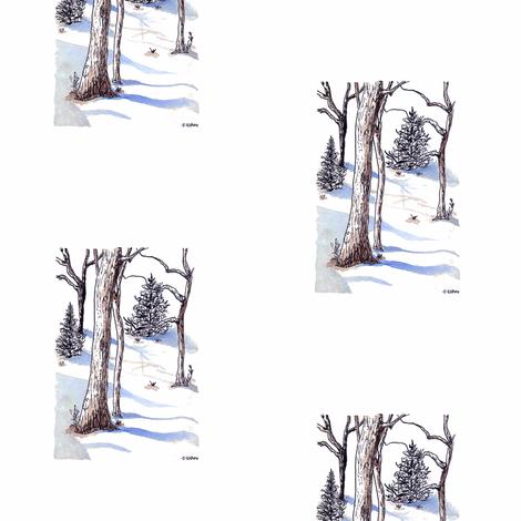 Winter Trees fabric by captiveinflorida on Spoonflower - custom fabric