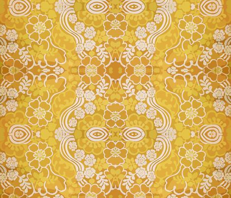 swirly_yellow_2 fabric by snork on Spoonflower - custom fabric