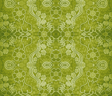swirly_green_1 fabric by snork on Spoonflower - custom fabric
