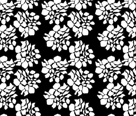 Danielle's Burnt Petals - Inverted fabric by stephanie on Spoonflower - custom fabric