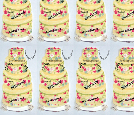 Words About Cake fabric by karenharveycox on Spoonflower - custom fabric