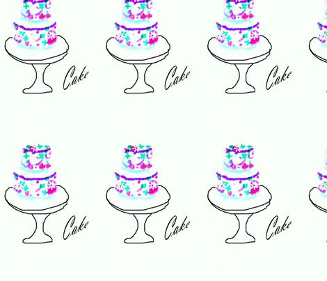 Cake fabric by karenharveycox on Spoonflower - custom fabric