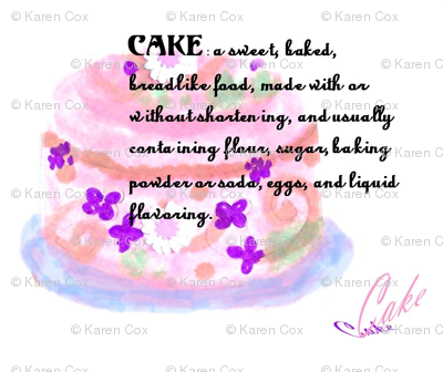 Definition of Cake