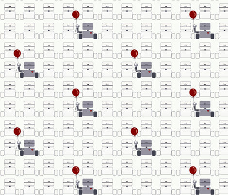 Robots_Ballon fabric by ttoz on Spoonflower - custom fabric