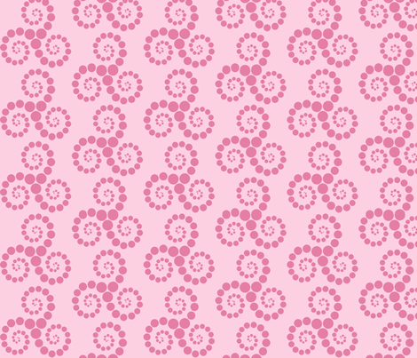 Spiralling Spots fabric by delsie on Spoonflower - custom fabric