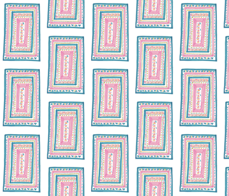 Pink Aqua Rug fabric by captiveinflorida on Spoonflower - custom fabric