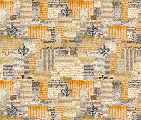 Scriptorium II fabric by poetryqn on Spoonflower - custom fabric
