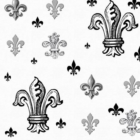 Raining Fleur de lis fabric by poetryqn on Spoonflower - custom fabric