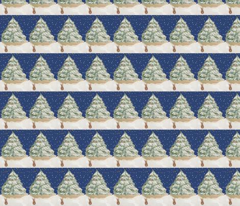 Benjamin's Christmas Tree fabric by karenharveycox on Spoonflower - custom fabric