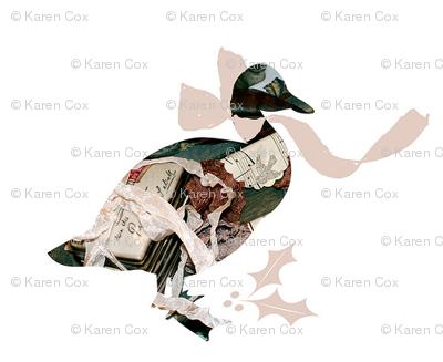 A Vintage Christmas Goose